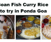 Fish Curry Rice to try in Ponda Goa (Update: 11 Apr 18 )